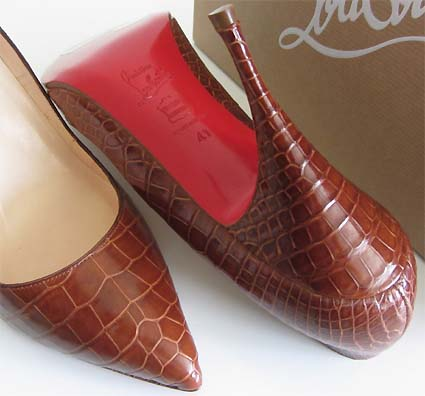 louboutin crocodile pumps