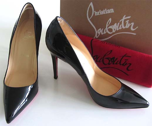 replica louboutin shoes men - New Christian Louboutin Pigalle 100 Black Patent Pumps 38 5 | eBay